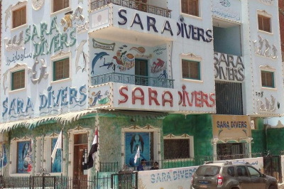 Hurghada sara divers map